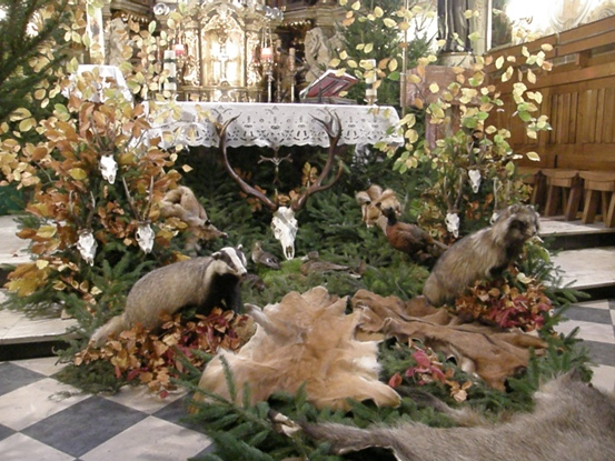Ołtarz ku czci św. Huberta, klasztor oo Bernardynów