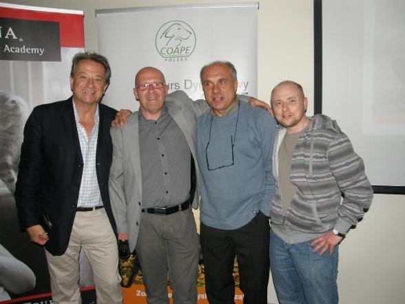 Pamiątkowe zdjęcie, Peter Neville, andrzej Kłosiński, Robert Naziębły, Jacek Iwaszkiewicz
